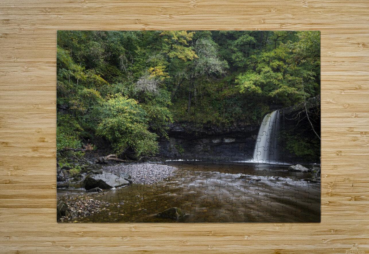 Sgwd Gwladus near Pontneddfechan  HD Metal print with Floating Frame on Back