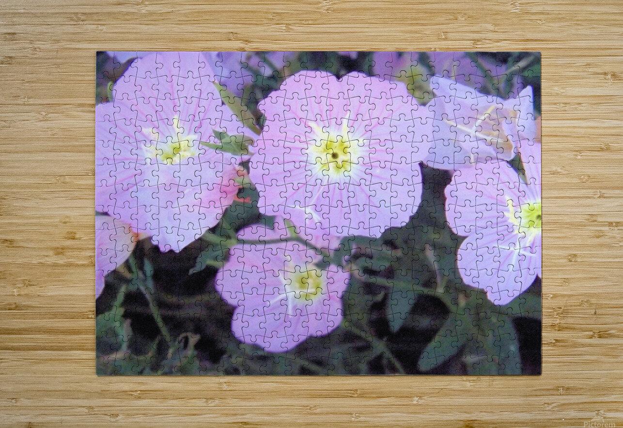 Flowers  Impression métal HD avec cadre flottant sur le dos