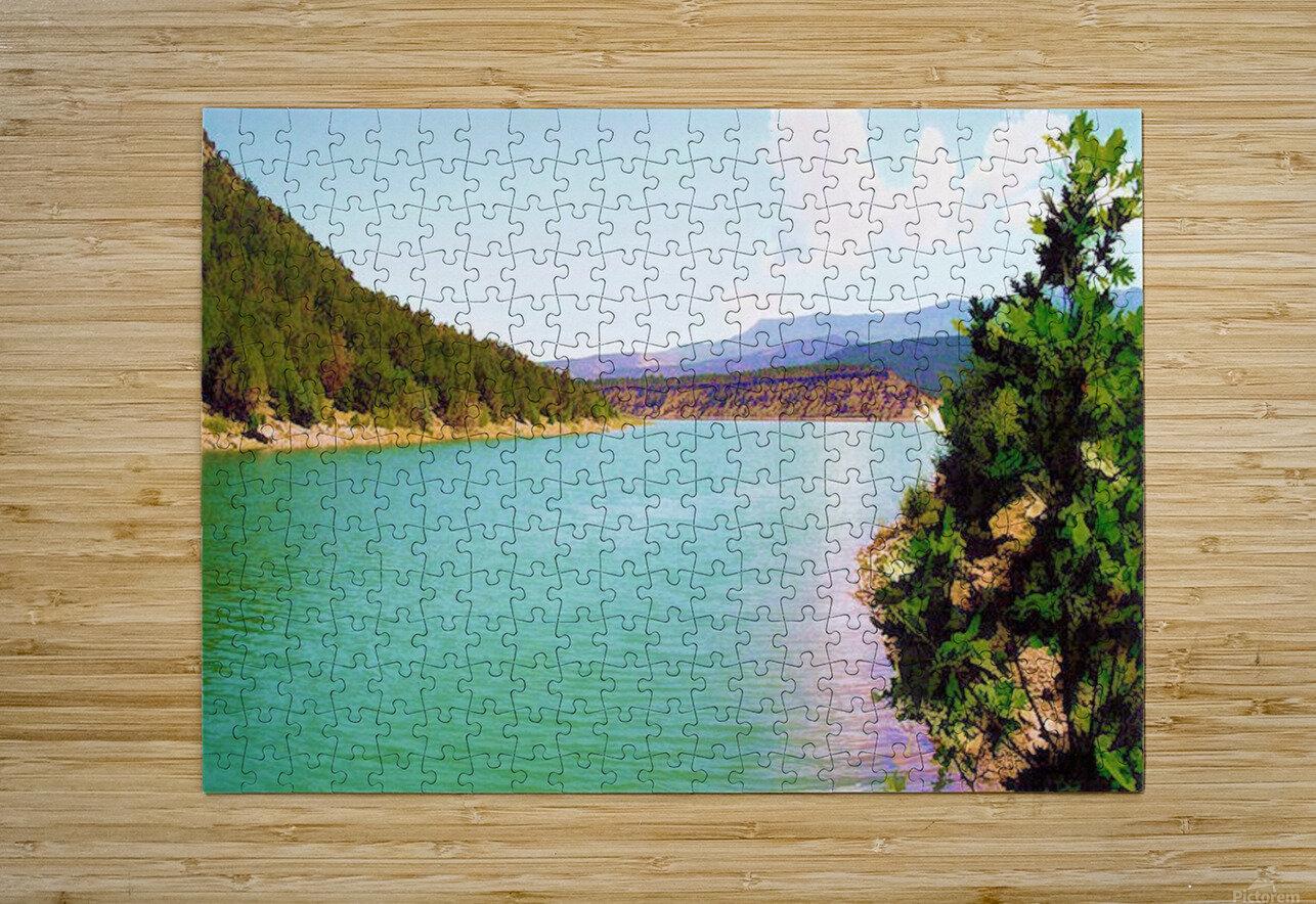Utah Lake  Impression métal HD avec cadre flottant sur le dos