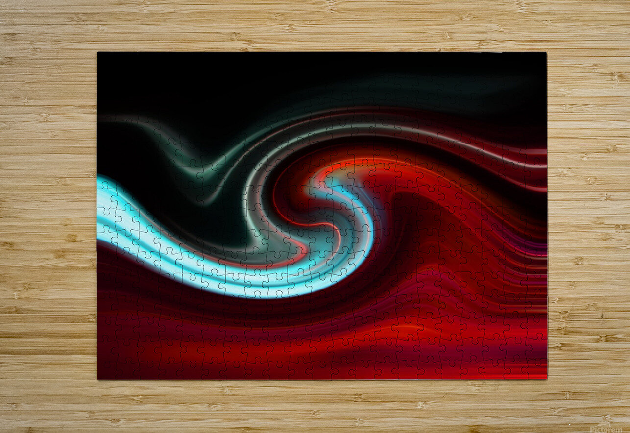 LAVA WAVE 2  HD Metal print with Floating Frame on Back