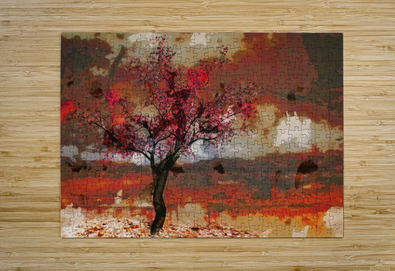 Summer cherry tree  HD Metal print with Floating Frame on Back