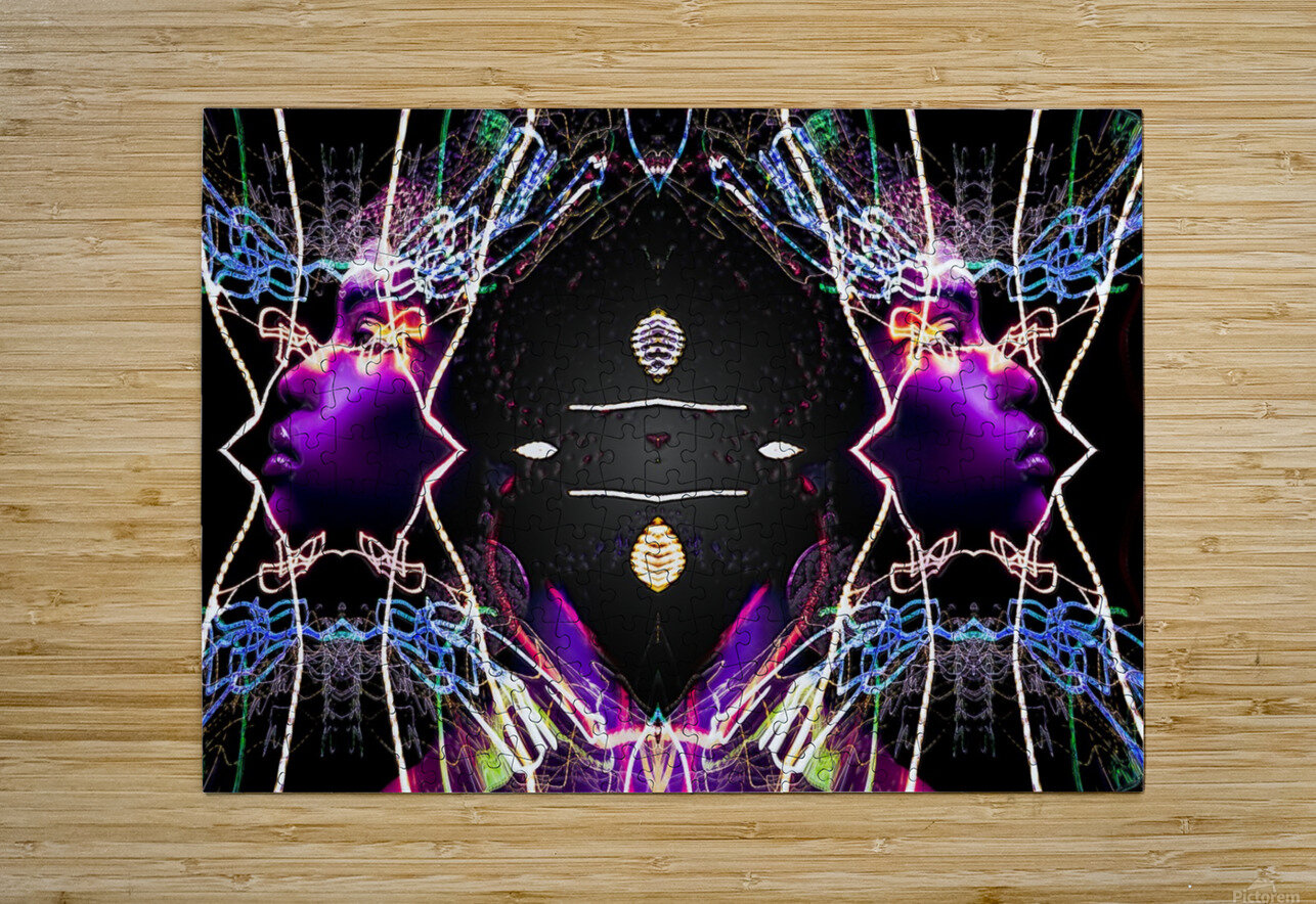 QUEENZ  HD Metal print with Floating Frame on Back