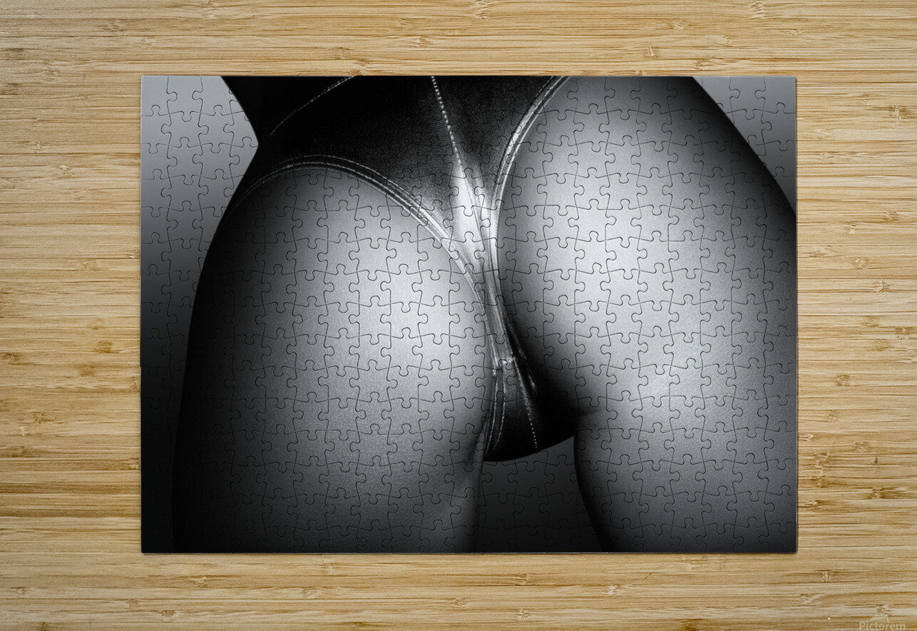 Sexy buttocks close-up 2  HD Metal print with Floating Frame on Back