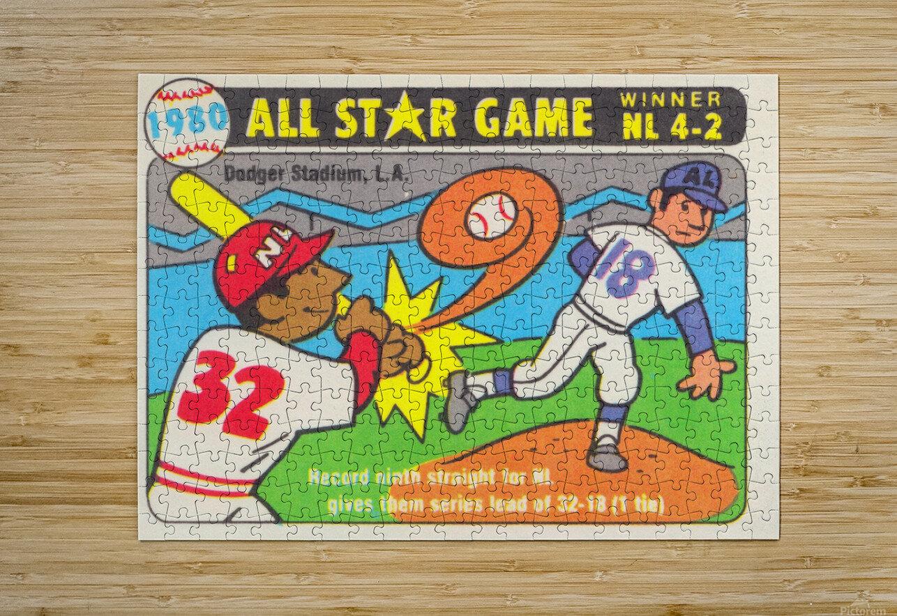 1980 Baseball All Star Game Art  HD Metal print with Floating Frame on Back