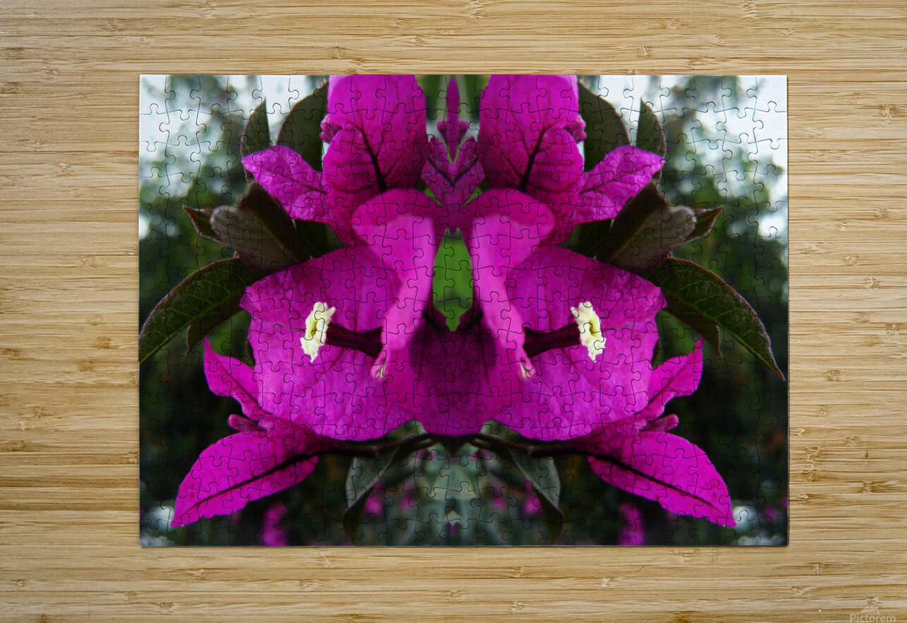 flower90  HD Metal print with Floating Frame on Back