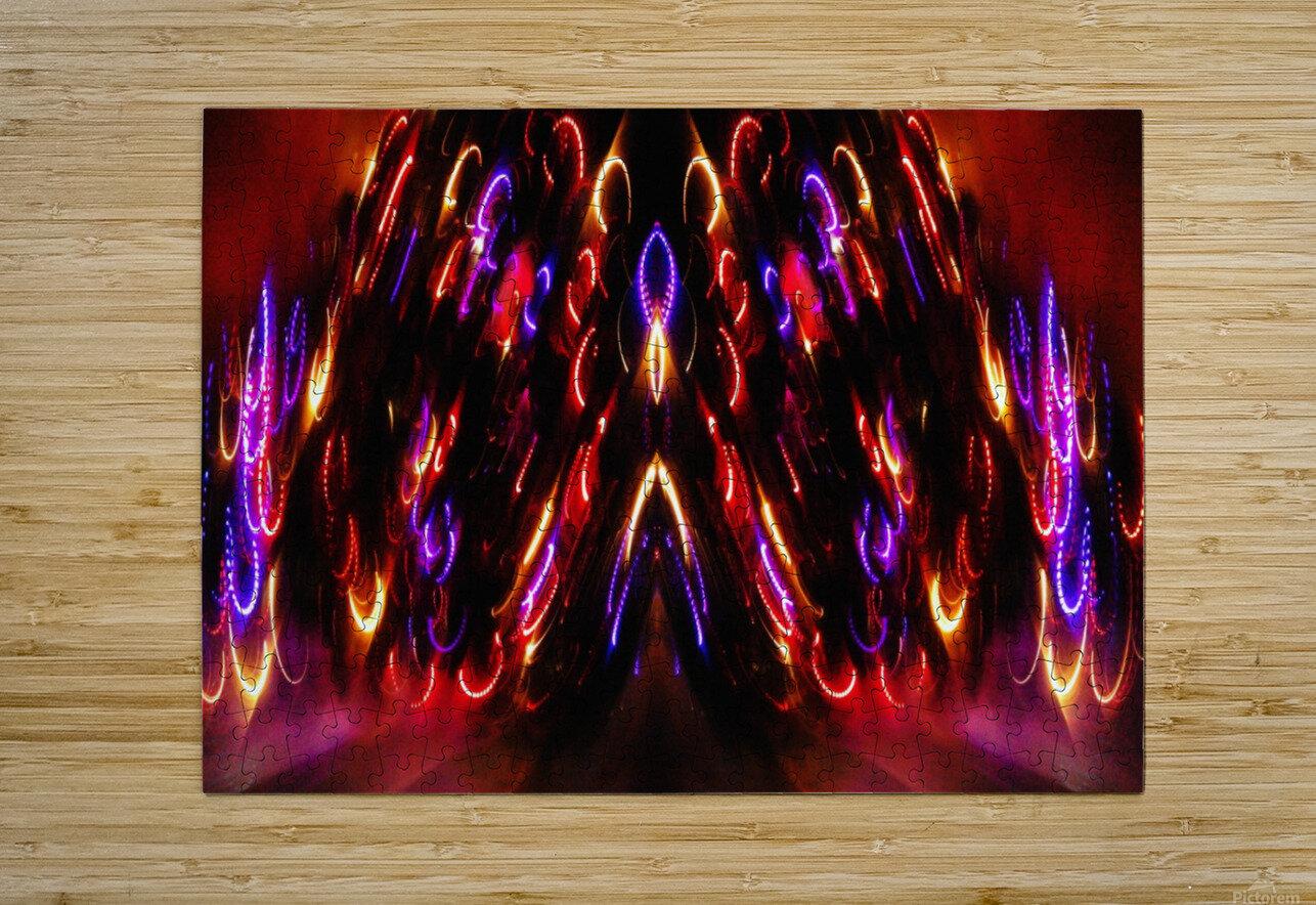 Lights15  HD Metal print with Floating Frame on Back