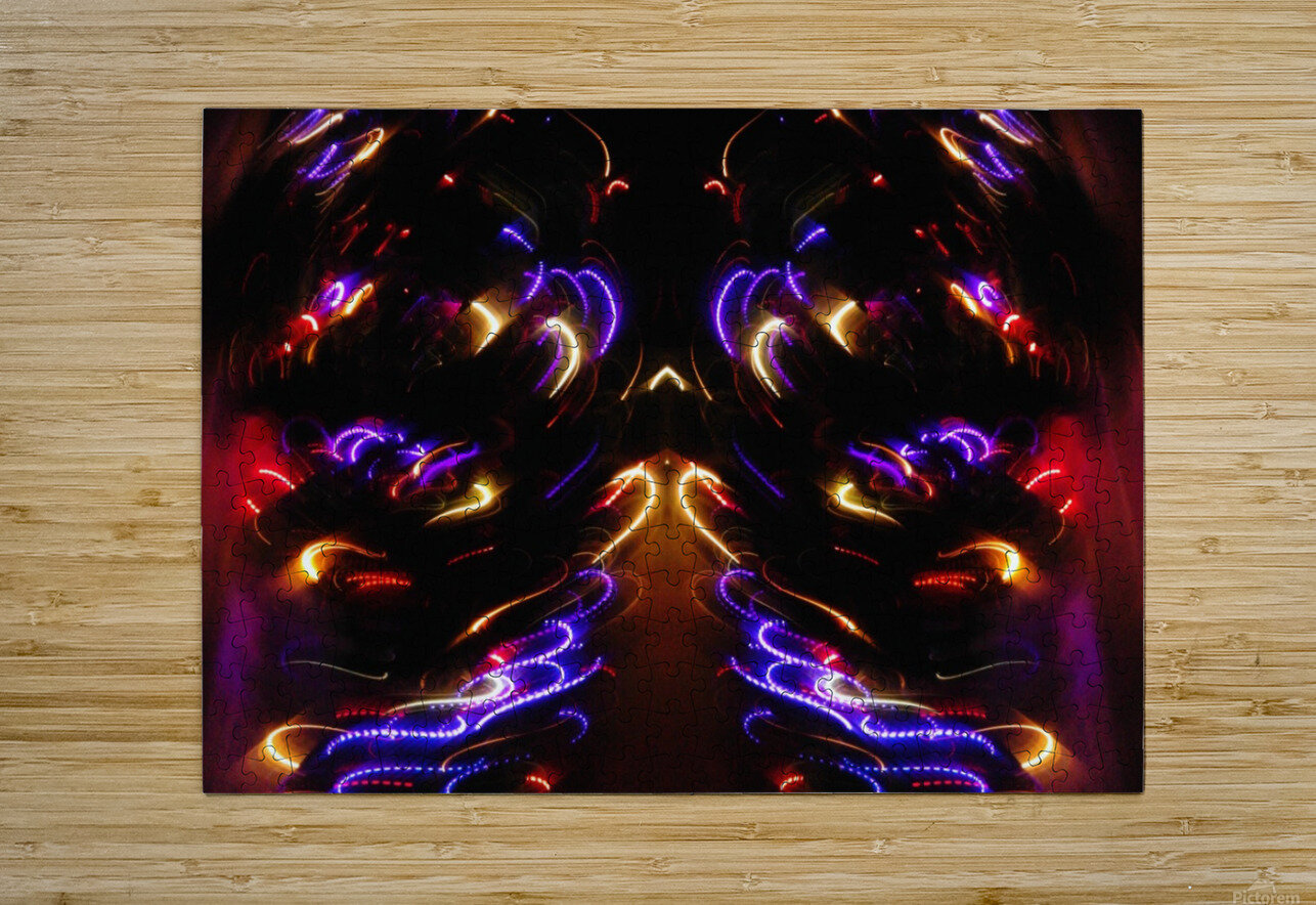 Lights17  HD Metal print with Floating Frame on Back