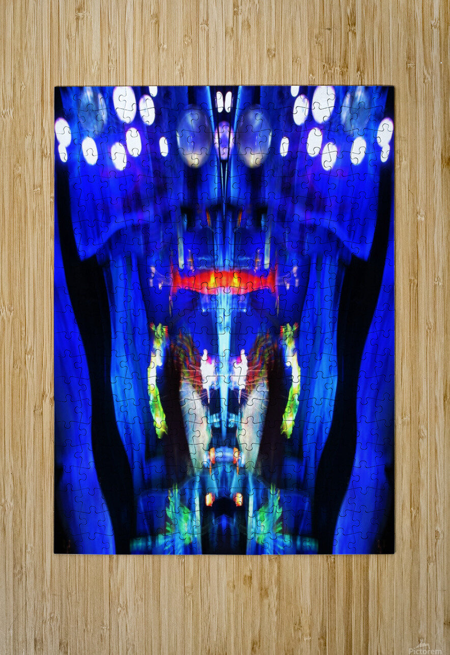 Lights11  HD Metal print with Floating Frame on Back