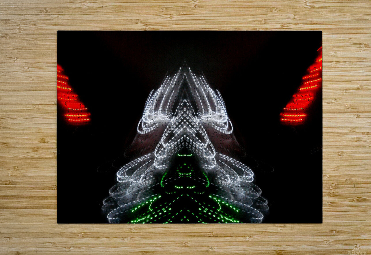Lights19  HD Metal print with Floating Frame on Back
