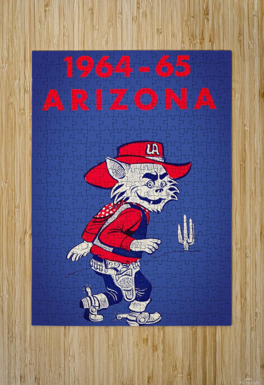 1964 Arizona Wildcat Art  HD Metal print with Floating Frame on Back