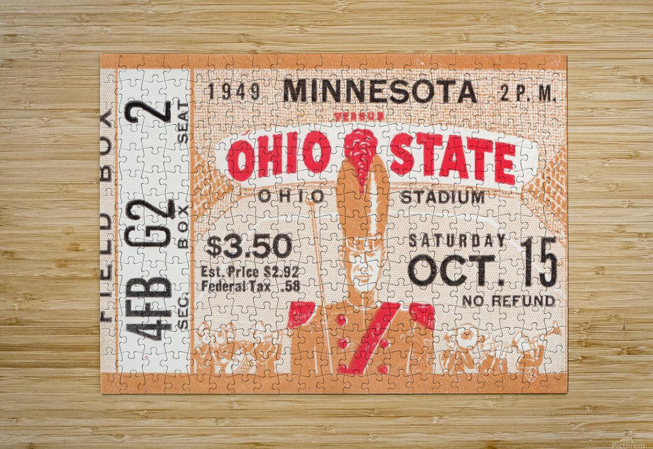1949 Ohio State vs. Minnesota  HD Metal print with Floating Frame on Back