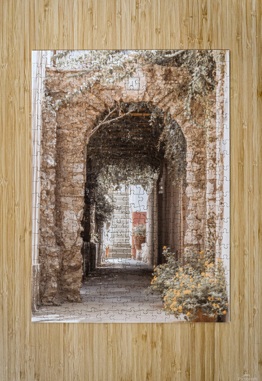 Stone arch doorway, Capri Island, Italy  HD Metal print with Floating Frame on Back