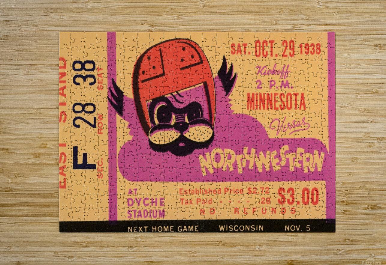 1938 Northwestern vs. Minnesota  HD Metal print with Floating Frame on Back