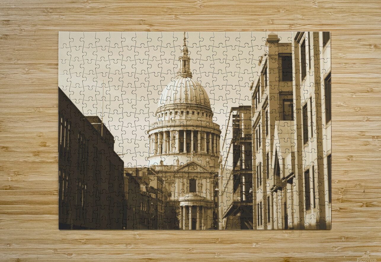 London - St  Pauls Cathedral  HD Metal print with Floating Frame on Back