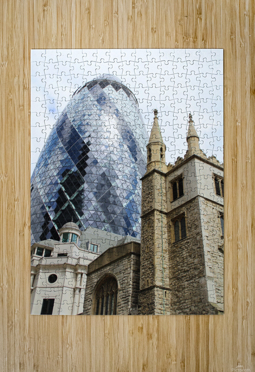 London old and new  HD Metal print with Floating Frame on Back