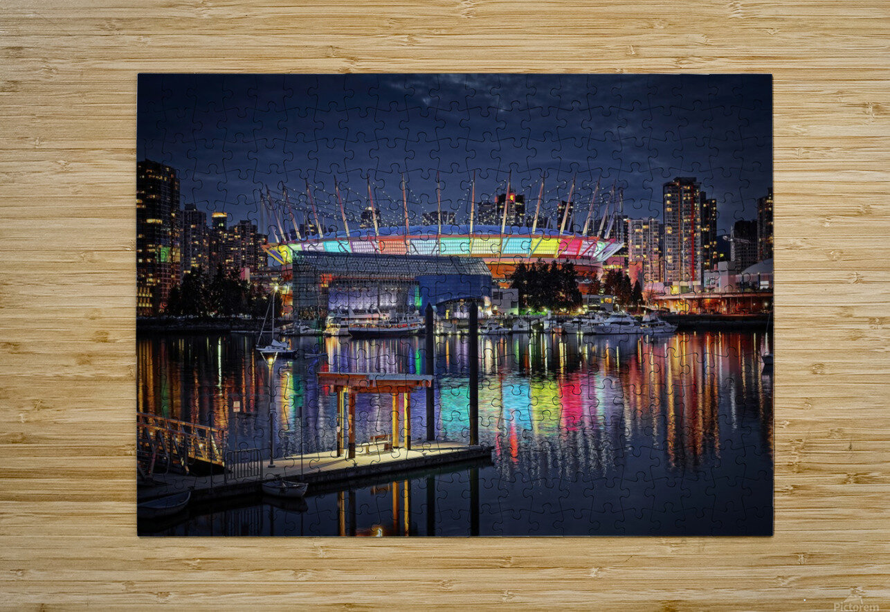 Colorful BC Place  HD Metal print with Floating Frame on Back