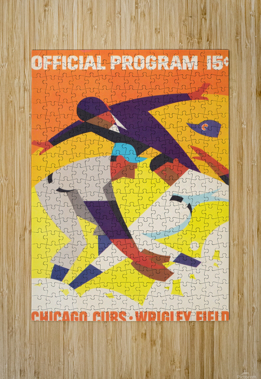 1967 Chicago Cubs Program  HD Metal print with Floating Frame on Back