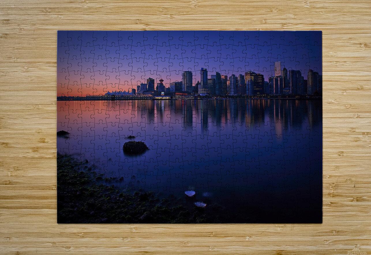 Vancouver Skyline  HD Metal print with Floating Frame on Back
