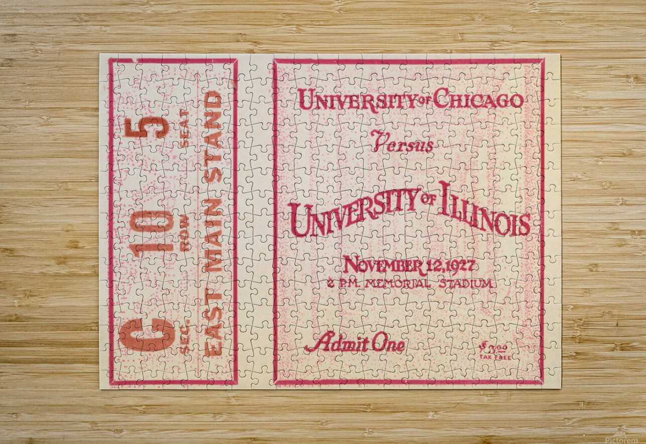 1927 Chicago vs. Illinois   HD Metal print with Floating Frame on Back
