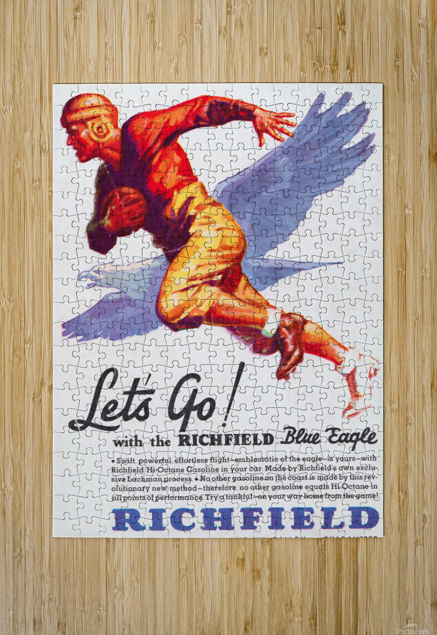 1933 Richfield Gasoline Ad  HD Metal print with Floating Frame on Back