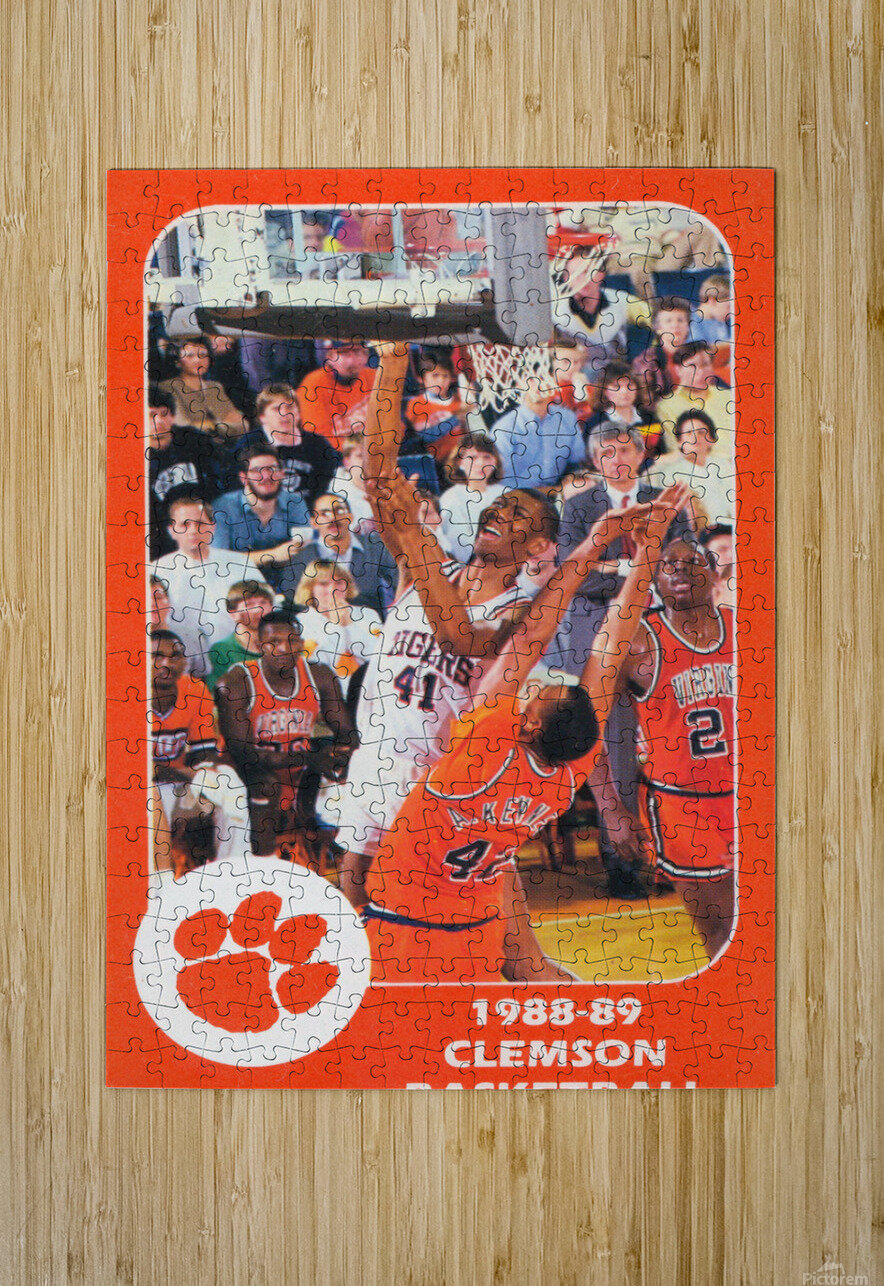 1988 Clemson Tigers Eldon Campbell  HD Metal print with Floating Frame on Back