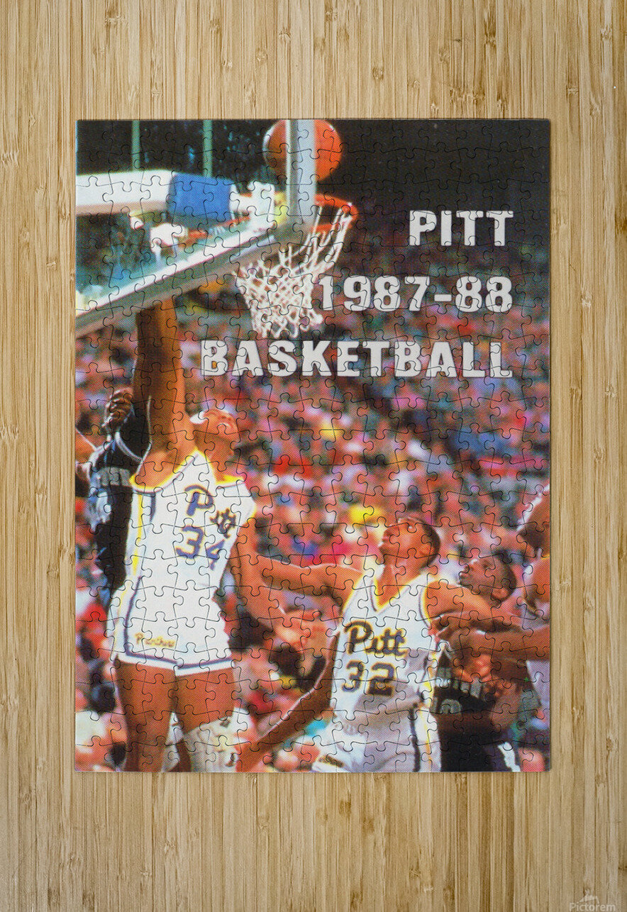 1987 Pitt Panthers Basketball  HD Metal print with Floating Frame on Back