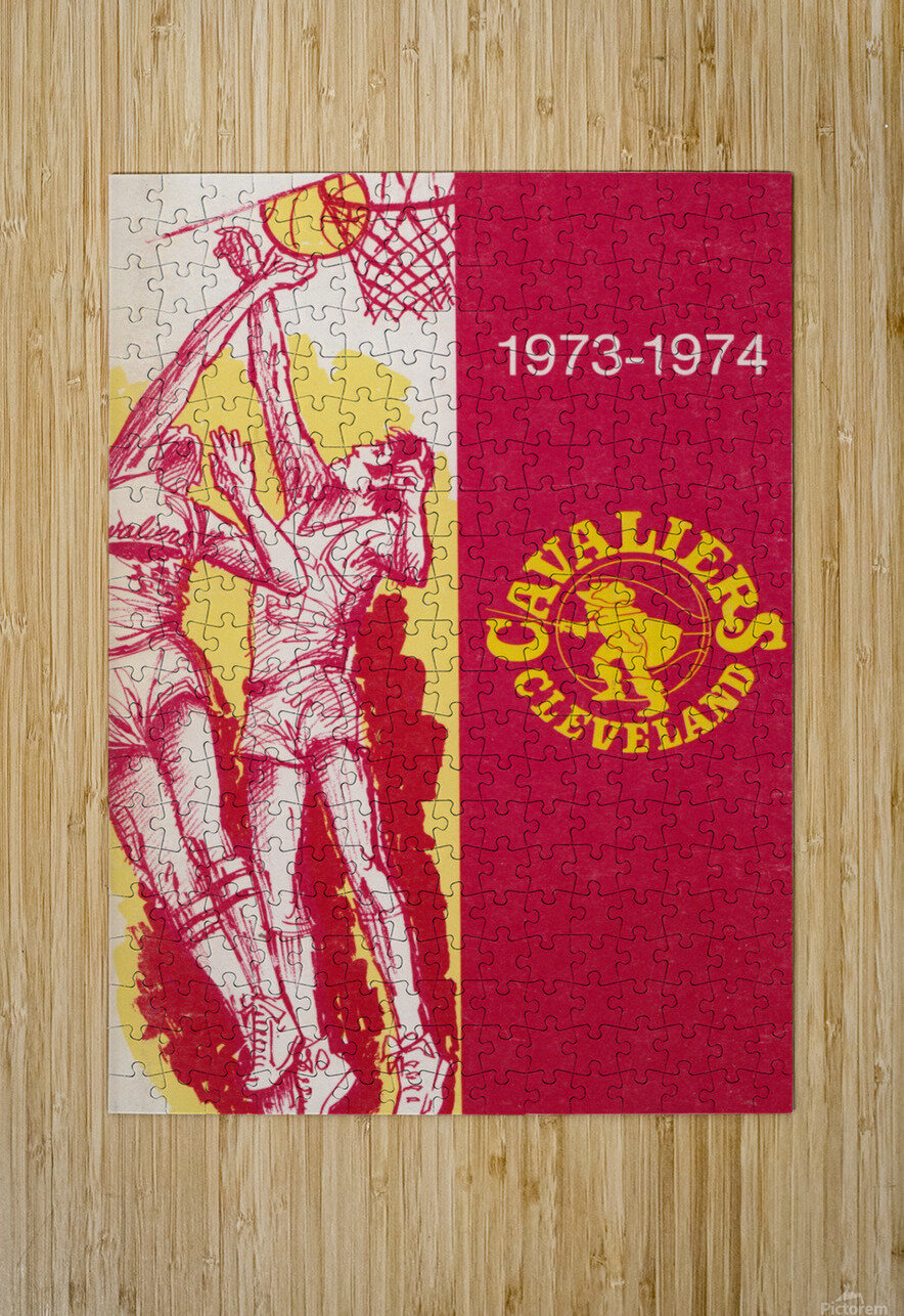 1973 Cleveland Cavaliers   HD Metal print with Floating Frame on Back