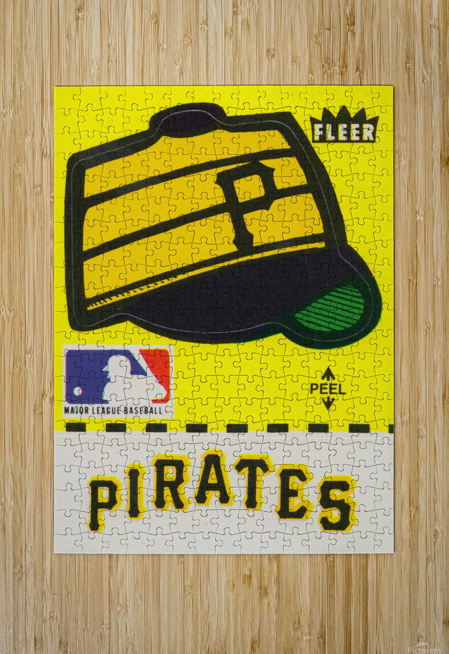 1981 Pittsburgh Pirate Fleer Decal Art  HD Metal print with Floating Frame on Back
