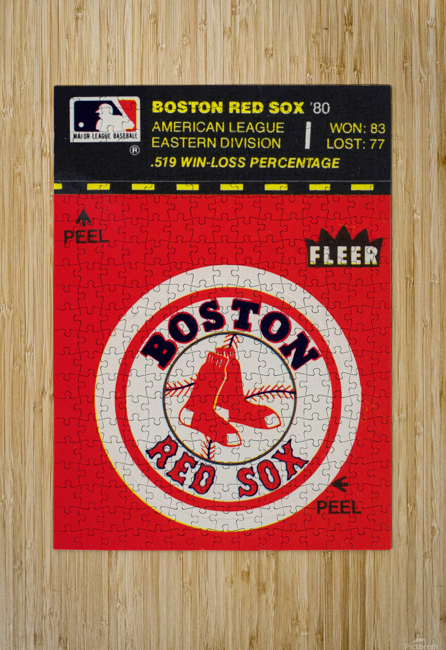 1981 Boston Red Sox Fleer Decal Art  HD Metal print with Floating Frame on Back