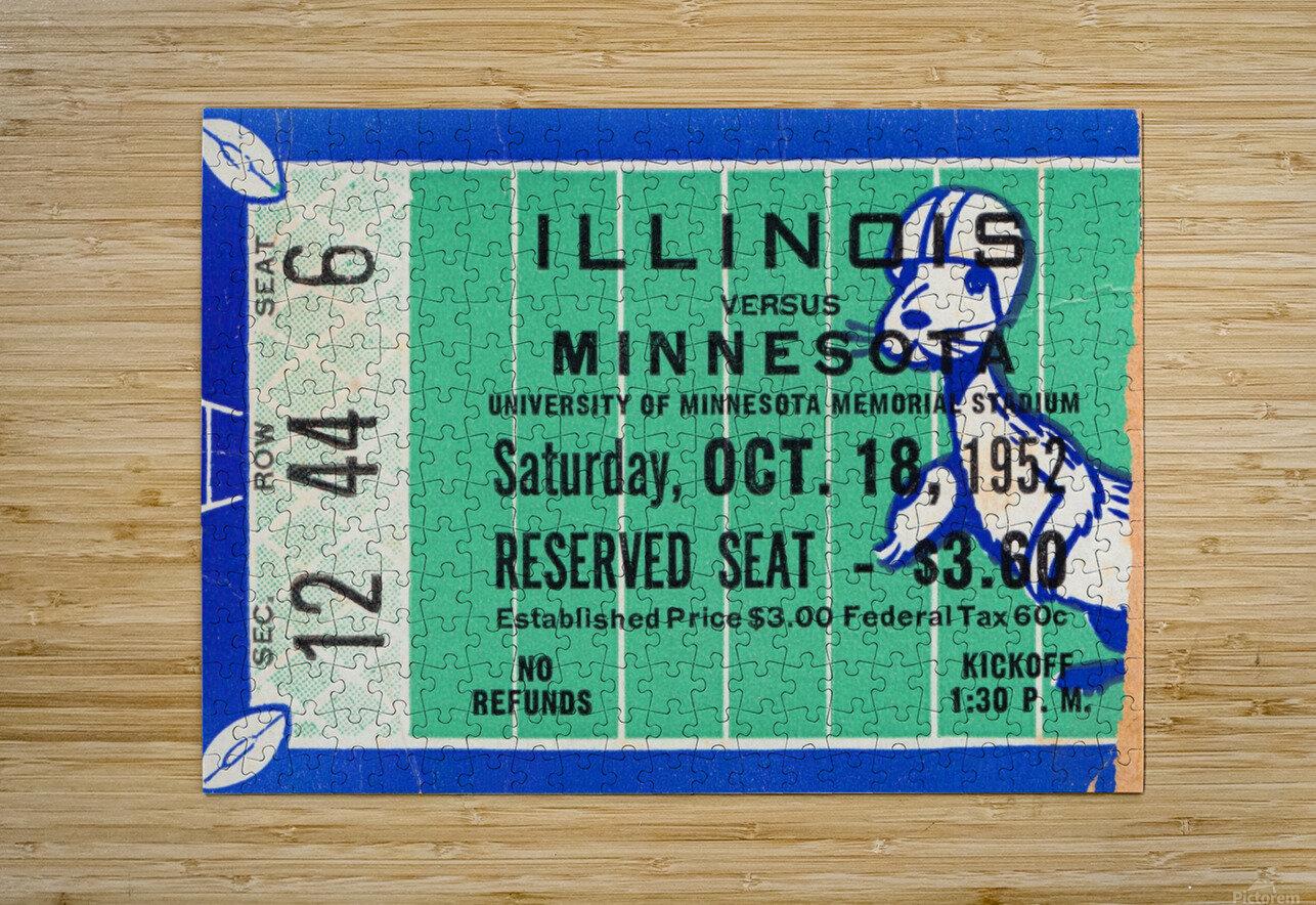 1952 Minnesota vs. Illinois  HD Metal print with Floating Frame on Back