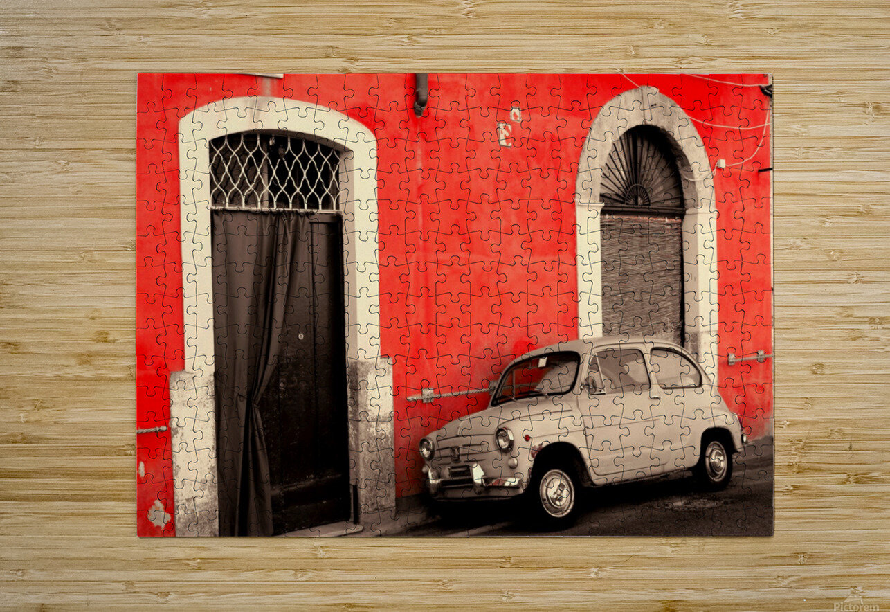 The Old car  HD Metal print with Floating Frame on Back