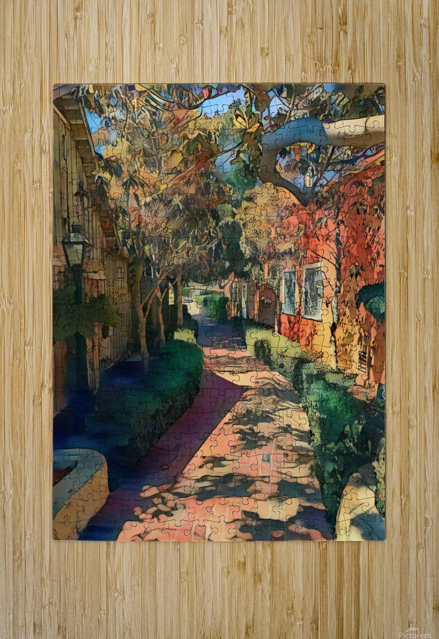 Hokusai alley  HD Metal print with Floating Frame on Back