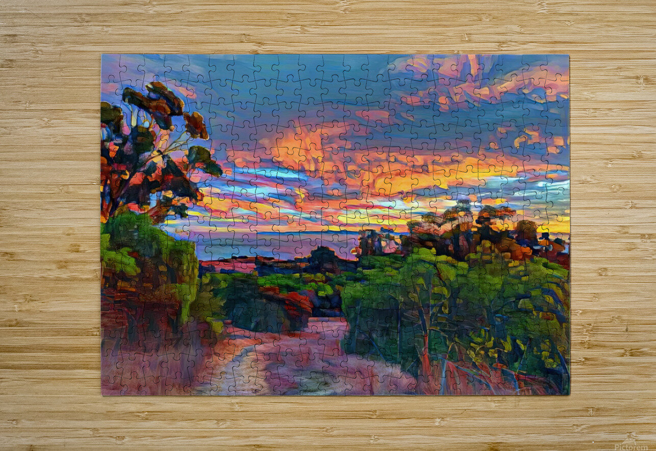 Sunset sky  HD Metal print with Floating Frame on Back