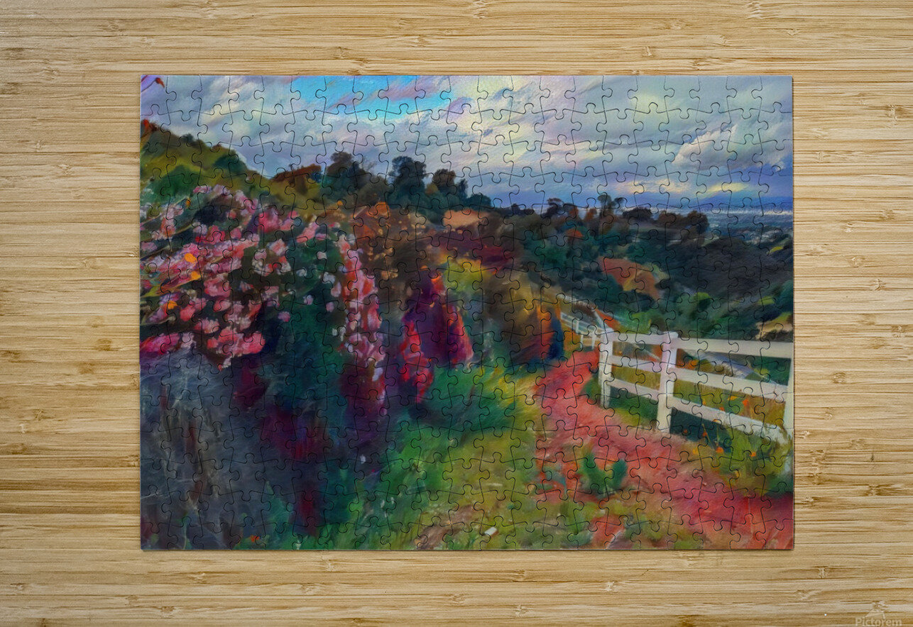 Rollings hills  HD Metal print with Floating Frame on Back