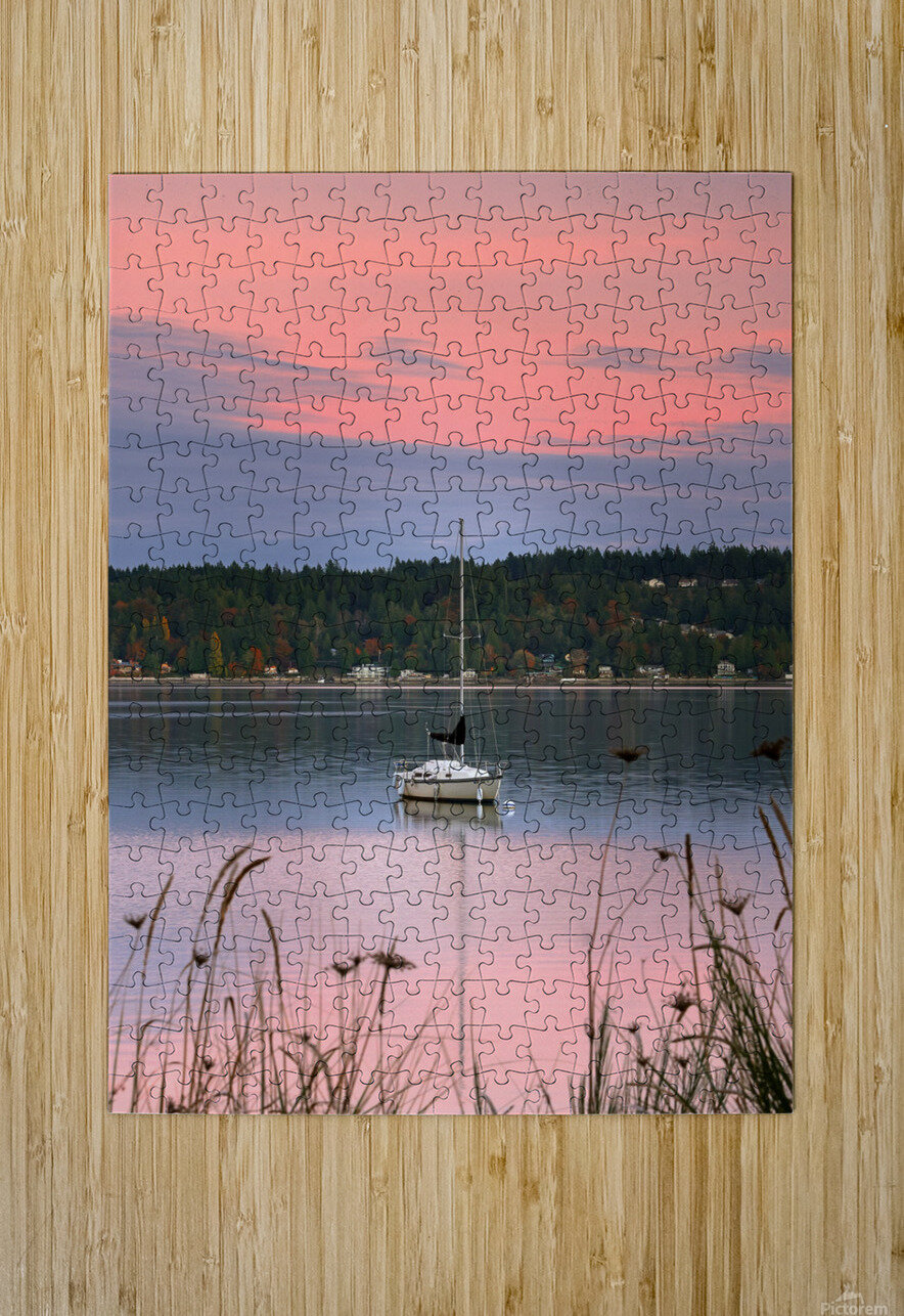 Rosy Retreat   HD Metal print with Floating Frame on Back