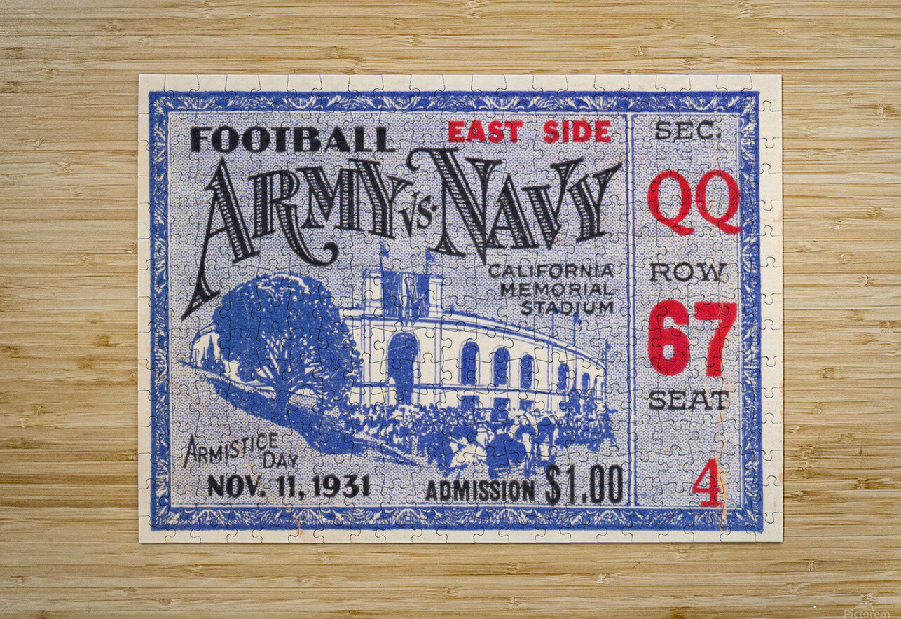 1931 Army vs. Navy  HD Metal print with Floating Frame on Back