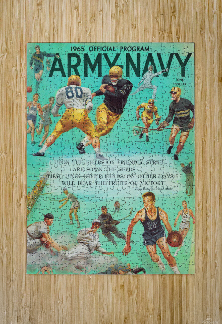 1965 Army vs. Navy Football Program  HD Metal print with Floating Frame on Back