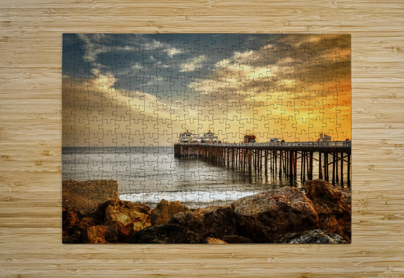 Malibu Summer   HD Metal print with Floating Frame on Back