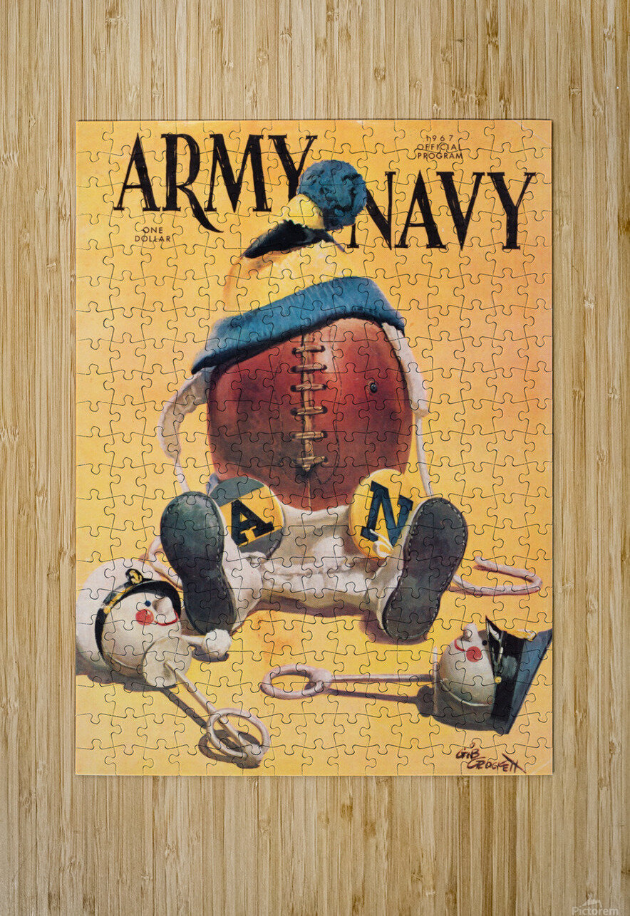 1967 army navy football program  HD Metal print with Floating Frame on Back