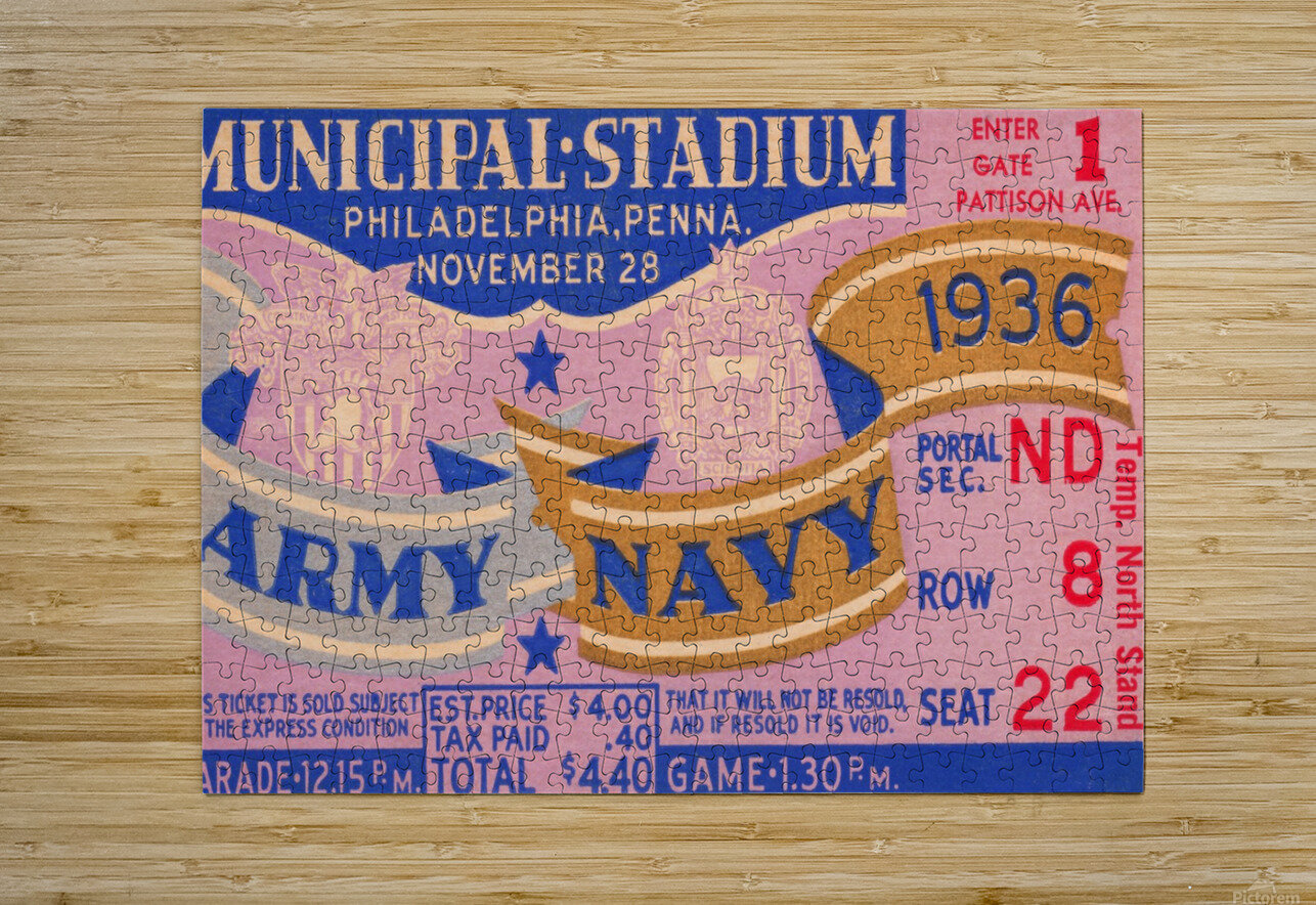 1936 Army Navy Game  HD Metal print with Floating Frame on Back