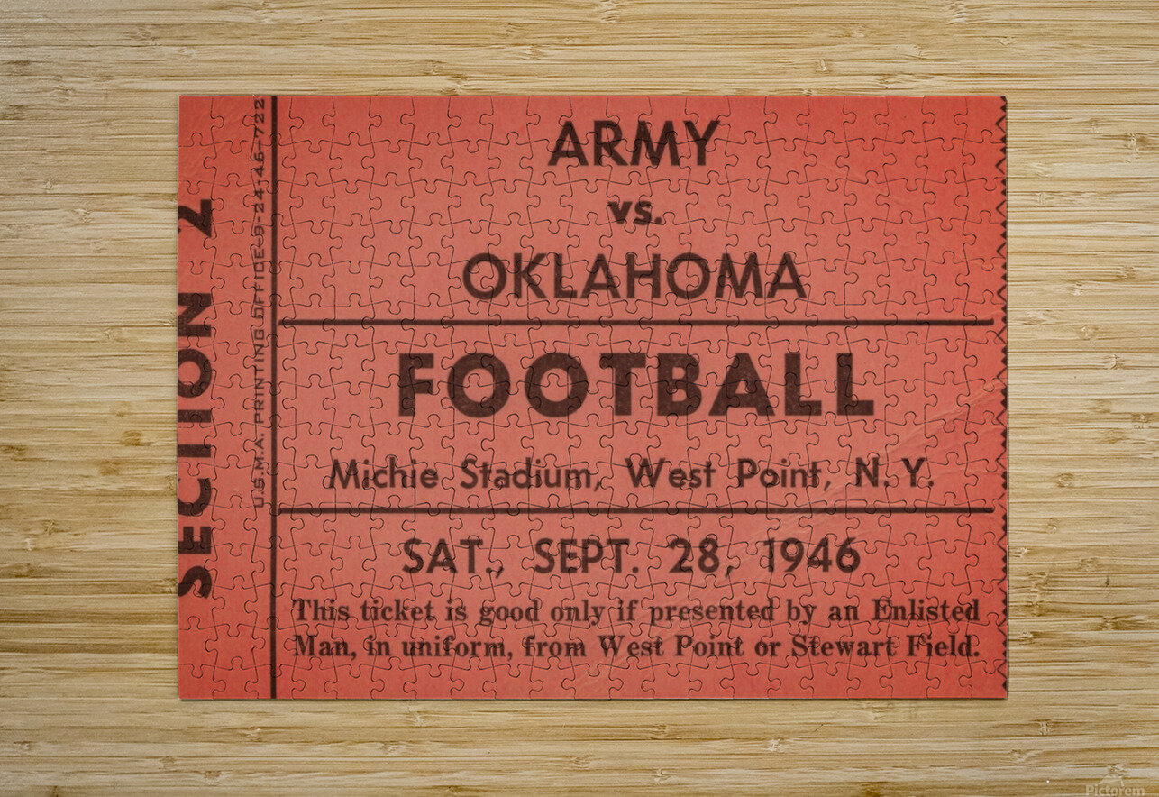 1946 Army vs. Oklahoma  HD Metal print with Floating Frame on Back