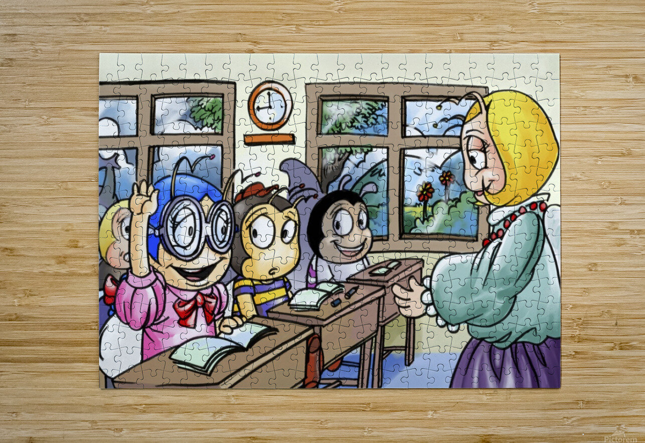 School Days - Classroom  HD Metal print with Floating Frame on Back