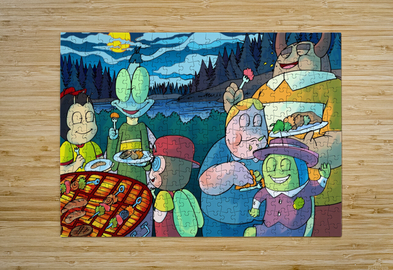 Summer Camp - Cookout - Bugville Critters  HD Metal print with Floating Frame on Back