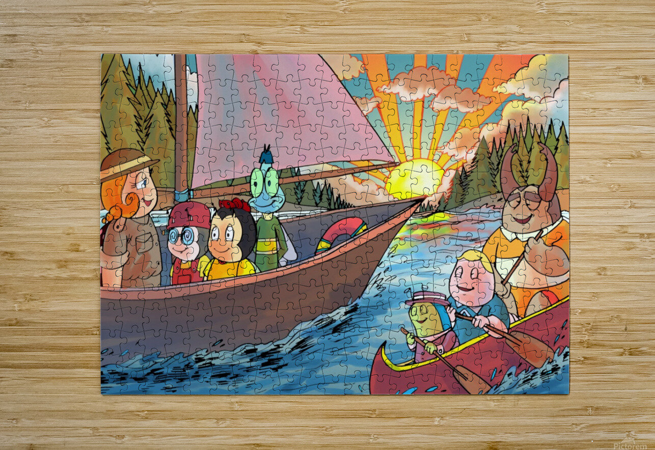 Summer Camp - Sailing - Bugville Critters  HD Metal print with Floating Frame on Back