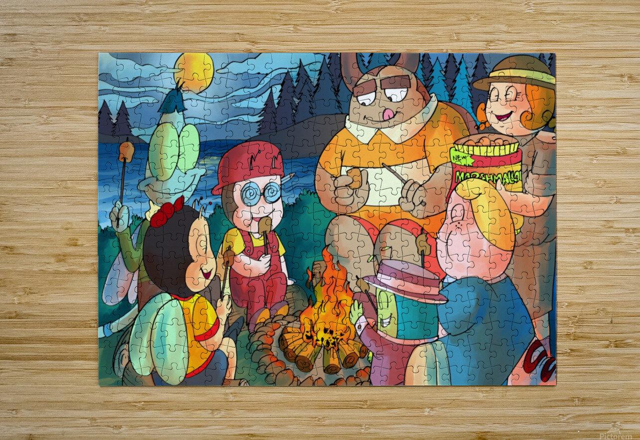 Summer Camp - Bonfire  HD Metal print with Floating Frame on Back