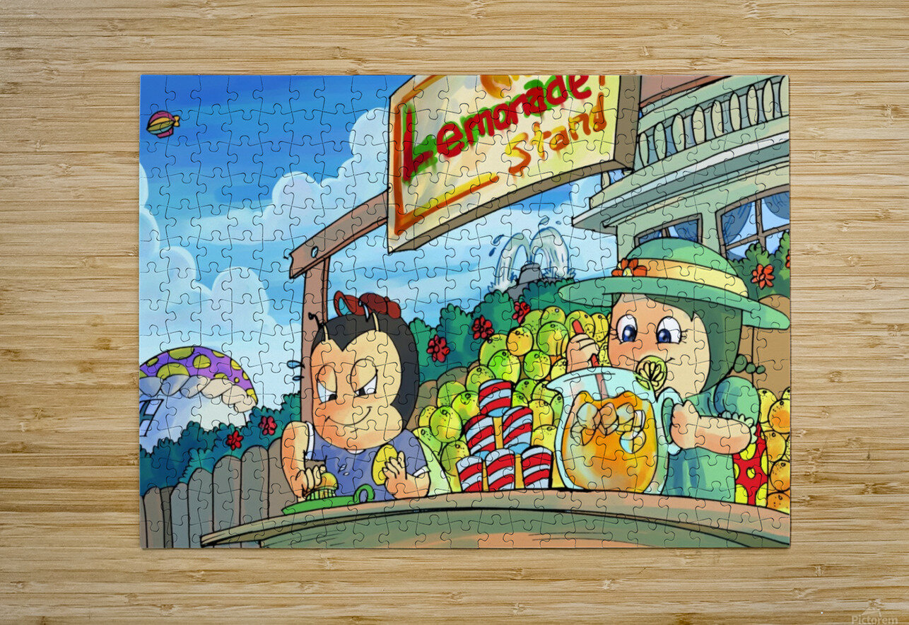 Lemonade Stand - Bugville Critters  HD Metal print with Floating Frame on Back