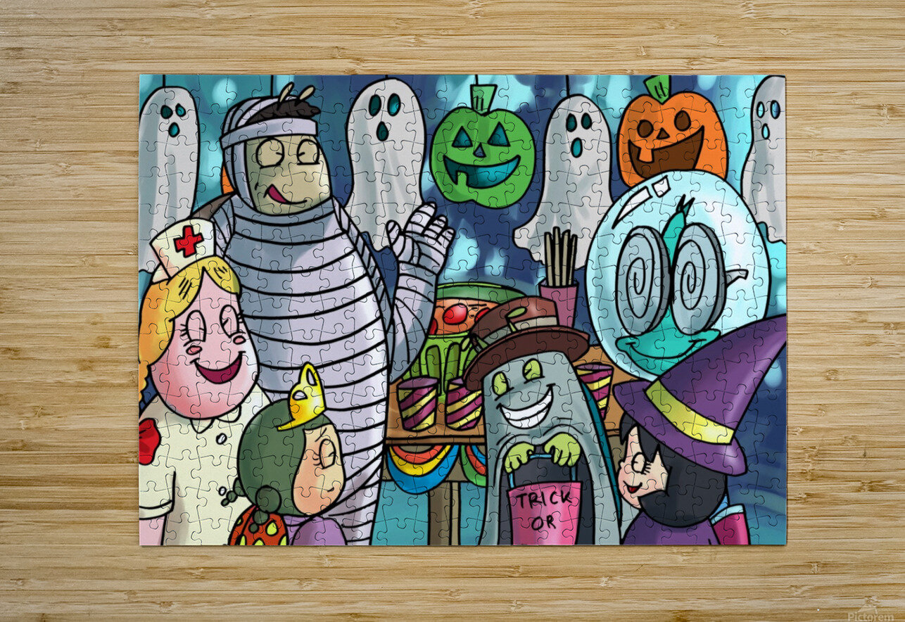 Halloween Party  HD Metal print with Floating Frame on Back