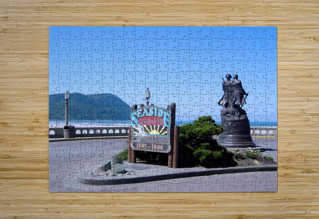 Seaside Oregon   Snapshot in Time  HD Metal print with Floating Frame on Back