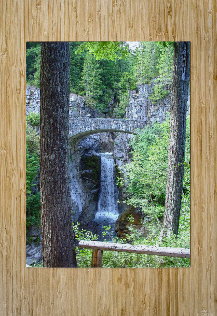 Christine Falls at Mount Rainier Pacific Northwest  HD Metal print with Floating Frame on Back