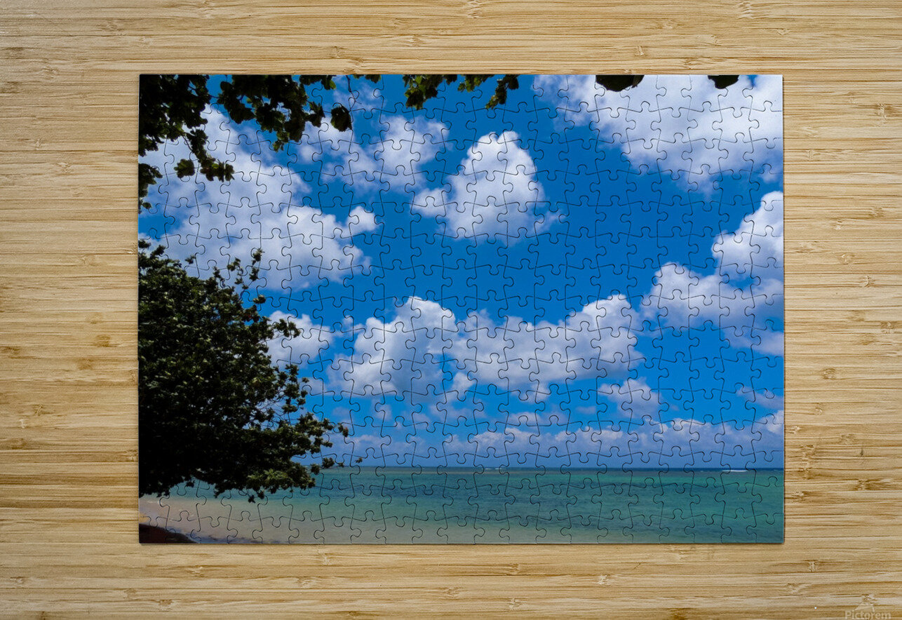 Turquoise Waters & Blue Skies  HD Metal print with Floating Frame on Back